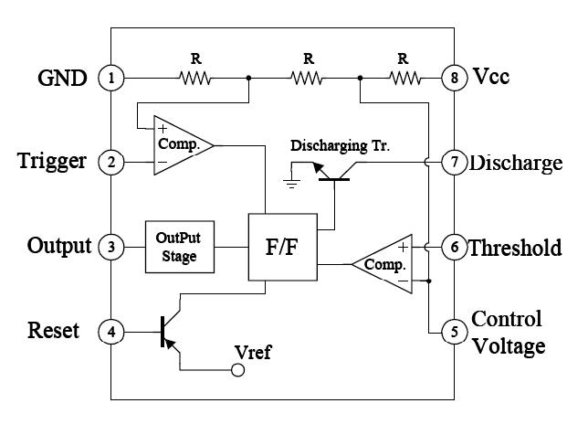 What Is A Conventional Schematic Symbol For A 555 Timer