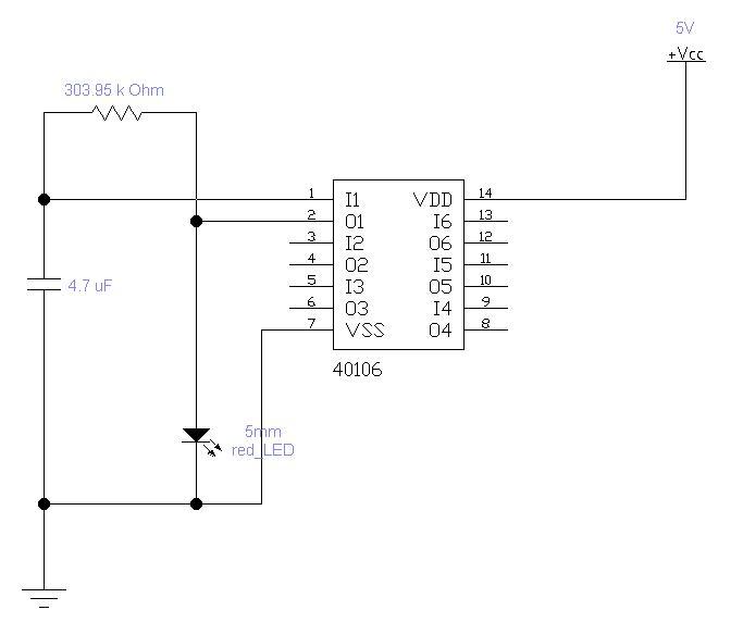 Circuito Not : Grix oscillatore rc con not triggerata